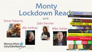 Monty Lockdown Reads with Steve Doherty, Julia Forster, Alix Nathan, and Mike Parker